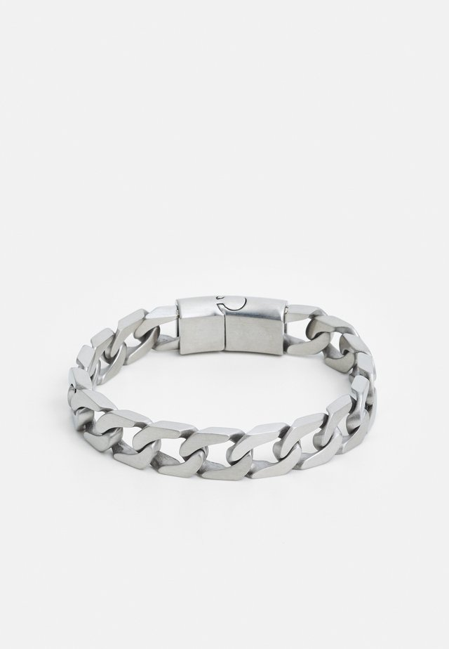 LARGE CUBAN LINK CHAIN BRACELET - Bracelet - silver-coloured
