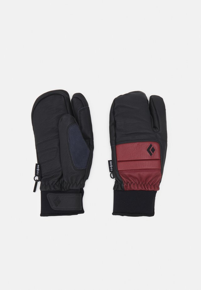 SPARK FINGER GLOVES - Handsker - dark crimson