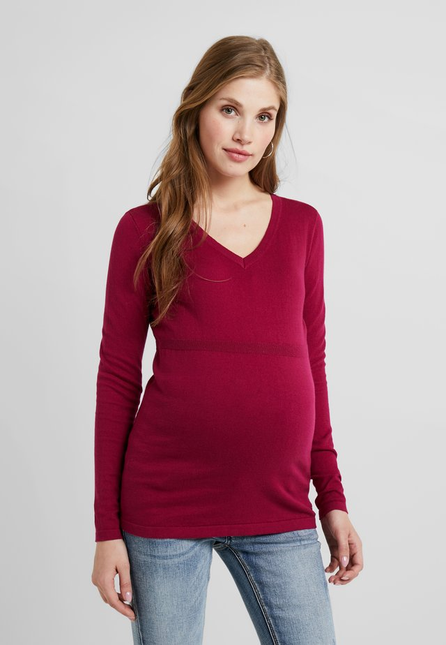 Pullover - plum red
