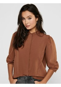 ONLY - Button-down blouse - tobacco brown - 3