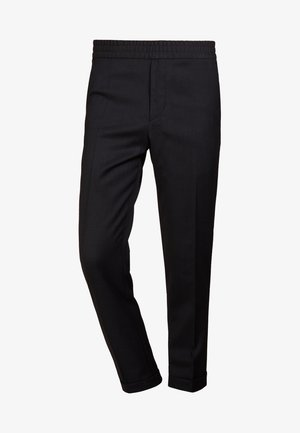TERRY CROPPED PANTS - Trousers - anthracite