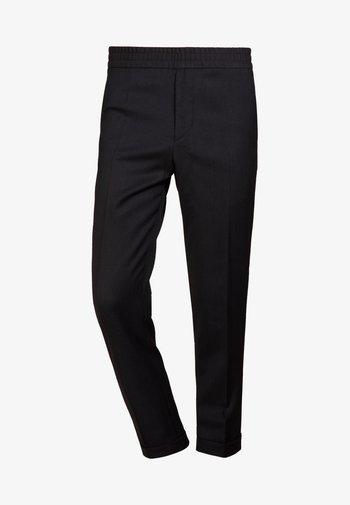 TERRY CROPPED PANTS - Pantaloni - anthracite