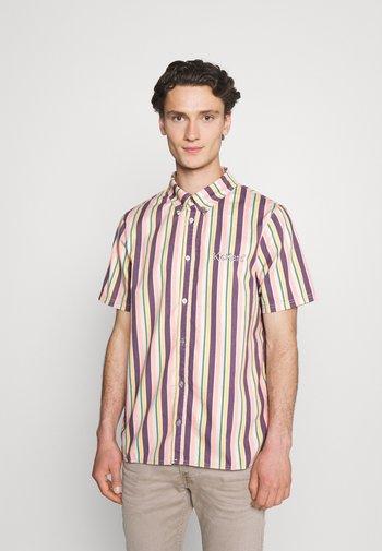 VERTICAL STRIPE SHORT SLEEVE SHIRT - Skjorta - multi-coloured