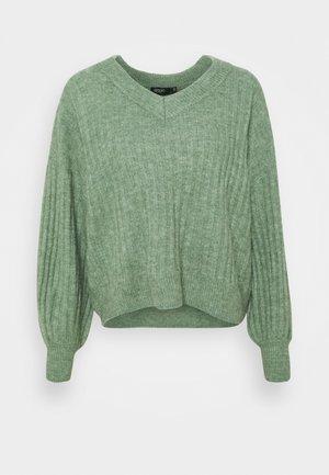 V-NECK - Trui - hedge green melange