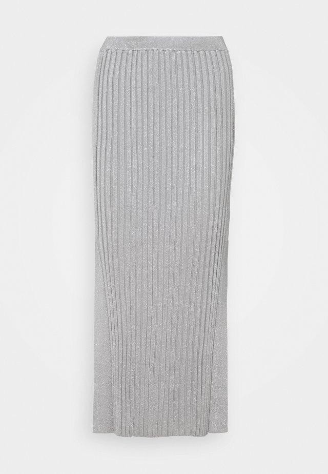 BAHARI  - Pencil skirt - silver