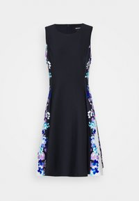 DKNY - FIT AND FLARE - Jersey dress - navy/cream/multi - 5