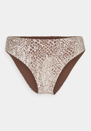 SERPENTINE HIGH RISE - Bikini bottoms - chocolate