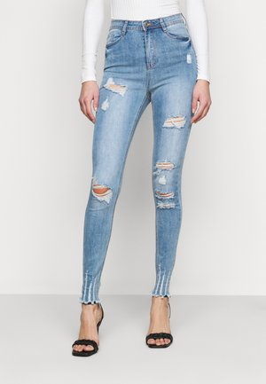 SINNER HIGHWAISTED AUTHENTIC RIP  - Skinny džíny - blue