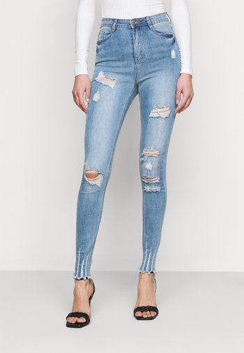 SINNER HIGHWAISTED AUTHENTIC RIP  - Jeans Skinny Fit - blue