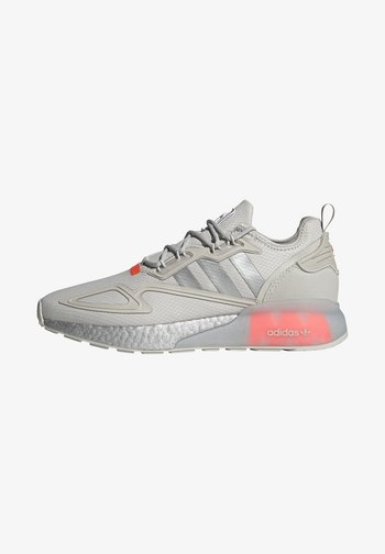 ZX 2K BOOST UNISEX - Trainers - grey one/silver metallic/solar red