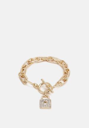 CHUNKY PAVE PADLOCK - Bracelet - gold-coloured