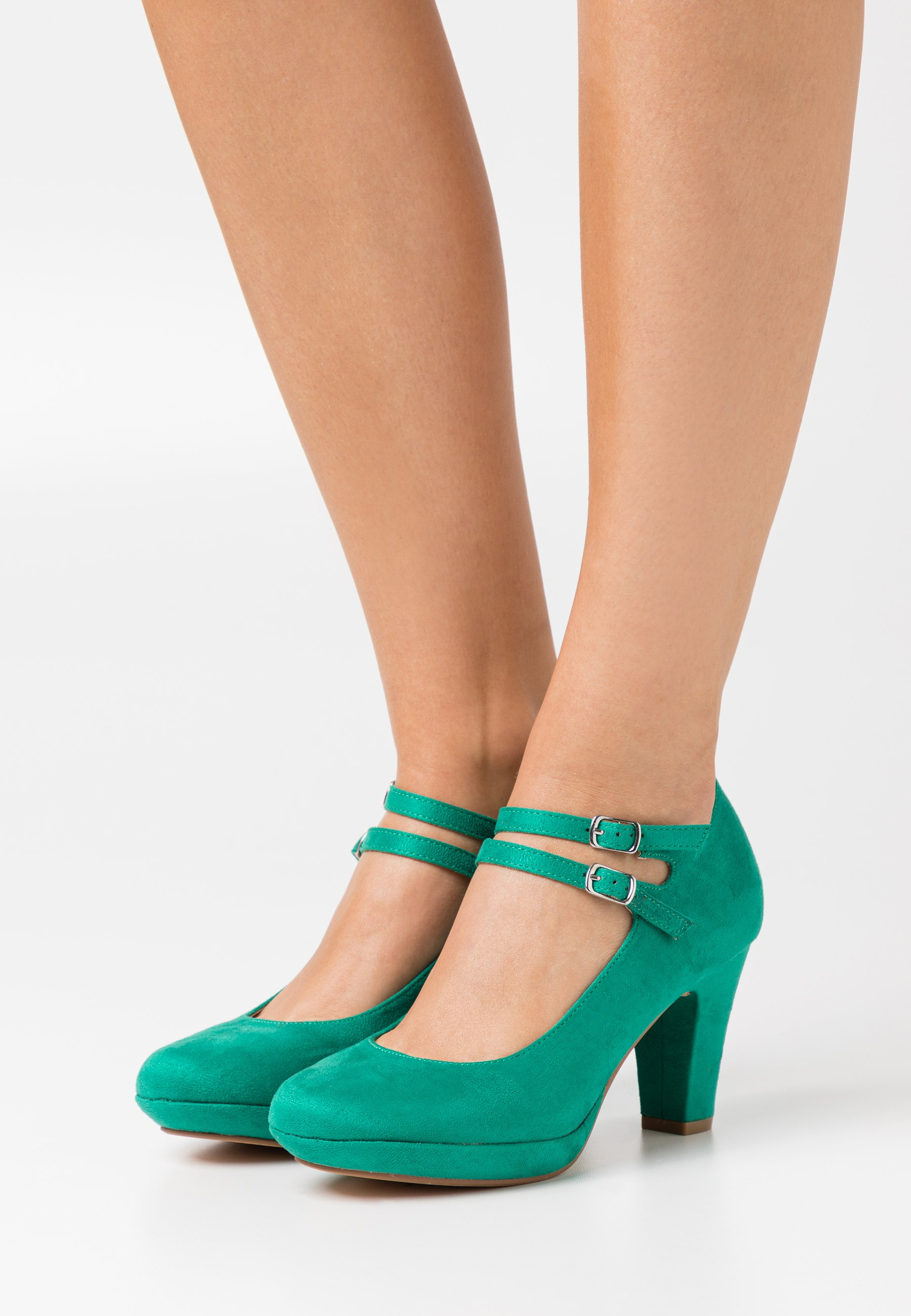 Femme Escarpins à plateforme - green