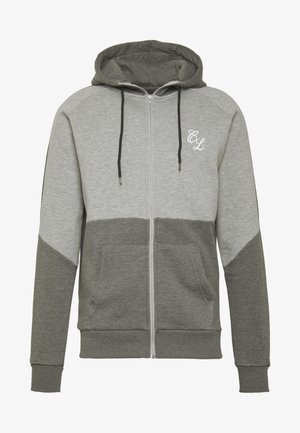 TWO TONE HOODY - Zip-up hoodie - grey