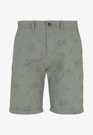 Shorts - olive shredded flower print