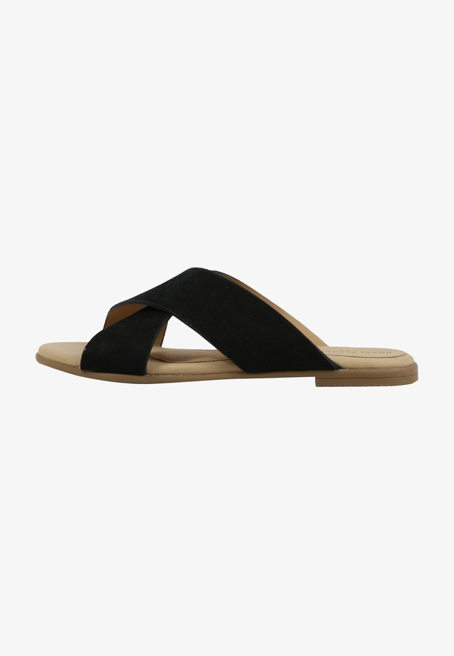 ALLURE NUBUCK CROSS SANDAL - Mules - black