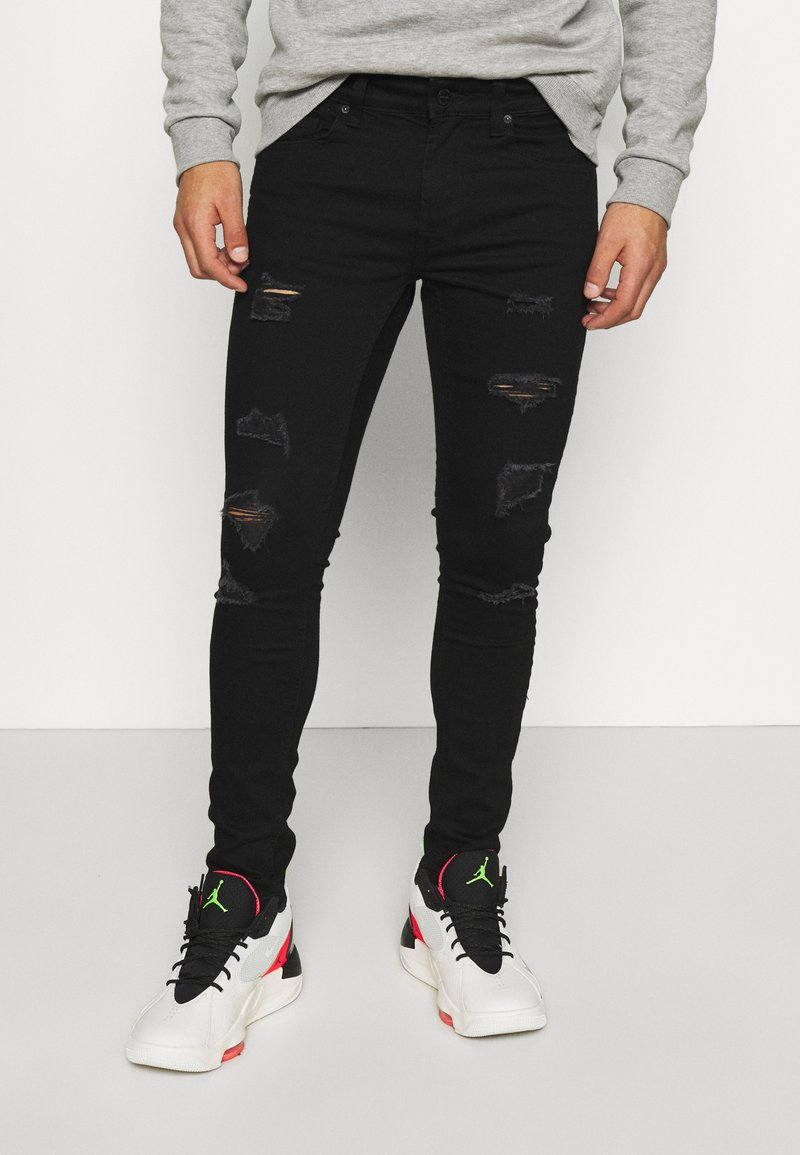 Only & Sons - ONSWARP LIFE  - Jeans Skinny Fit - black