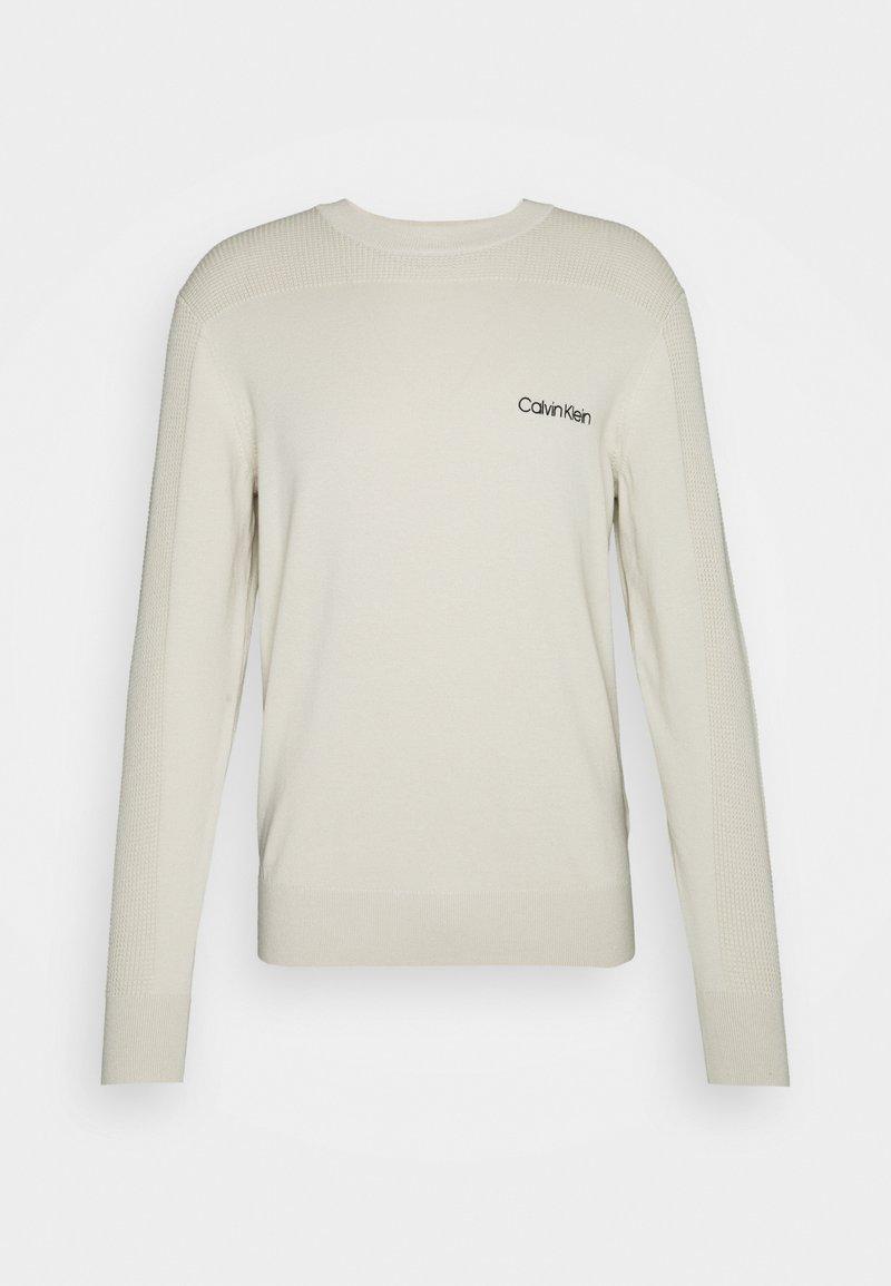 Calvin Klein Tailored - TEXTURE  - Strikpullover /Striktrøjer - beige