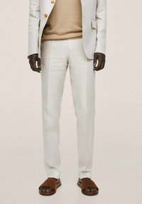 Mango - Oblekové kalhoty - beige - 0