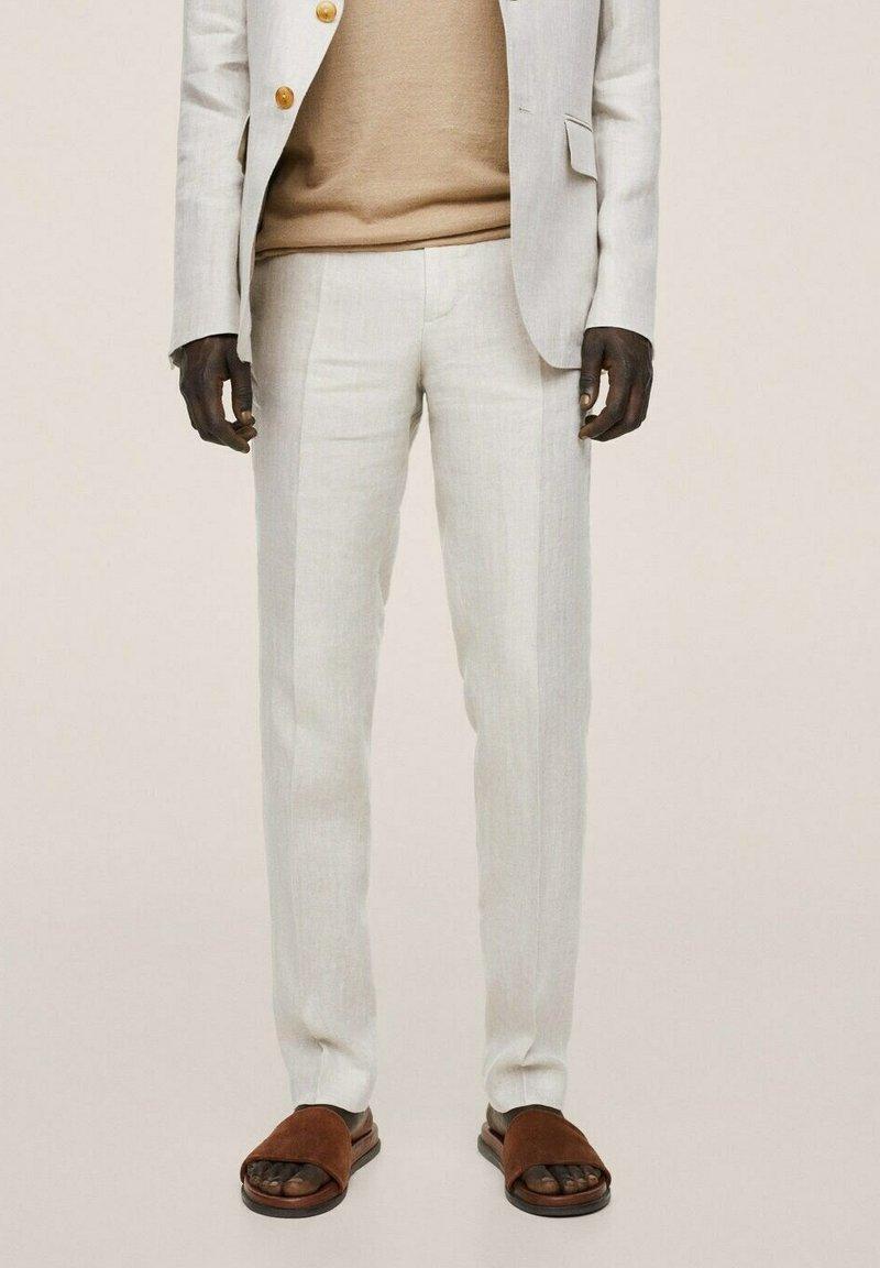 Mango - Oblekové kalhoty - beige