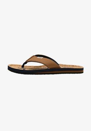 CHAD - T-bar sandals - tobacco brown