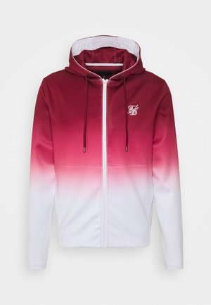 AGILITY FADE ZIP THROUGH HOODIE - Sweatjacke - red/white