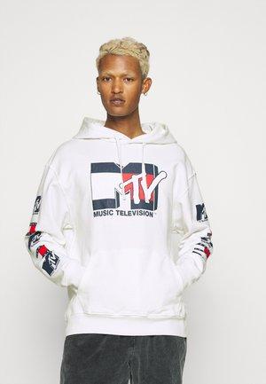 MTV HOODIE UNISEX - Sweatshirt - ivory silk