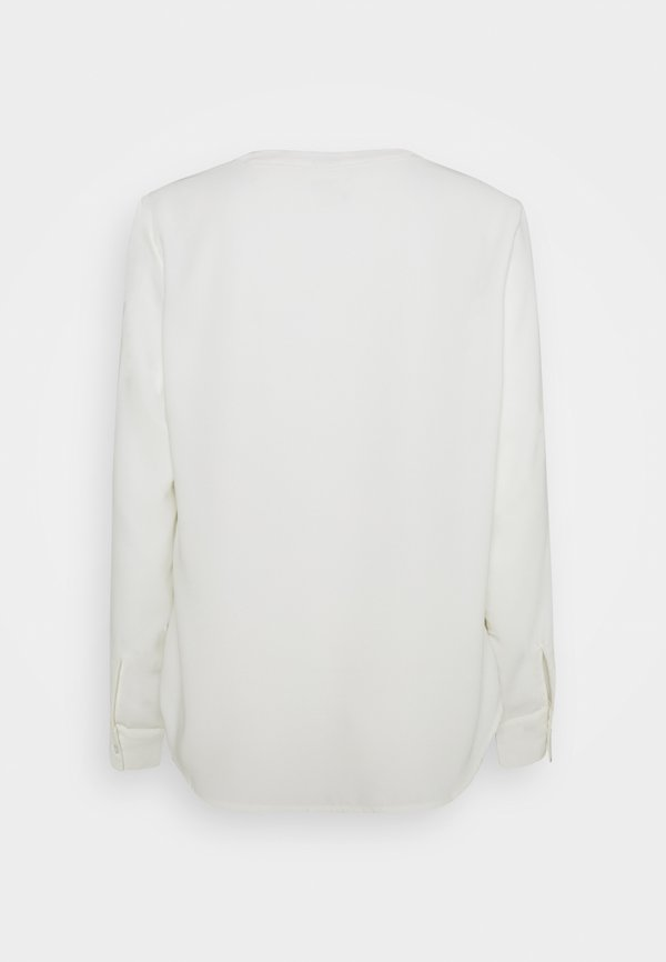 Vero Moda VMSWEET V NECK - Bluzka - snow white/biały FAYE
