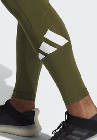 adidas Performance - TURF 3 BAR LT PRIMEGREEN TECHFIT WORKOUT COMPRESSION LEGGINGS - Leggings - green - 3