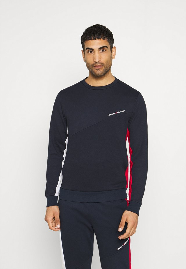 BLOCKED CREW - Sweater - blue