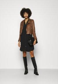 Oakwood - ALIZEE - Leather jacket - cognac - 1