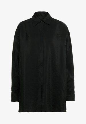 TECH - Button-down blouse - black