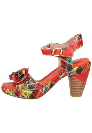 LAURA VITA SANDALEN - Sandalen met hoge hak - rouge