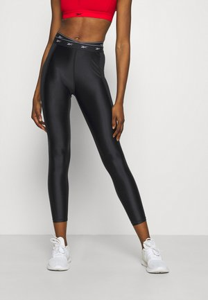 HIGH SHINE - Legginsy - black