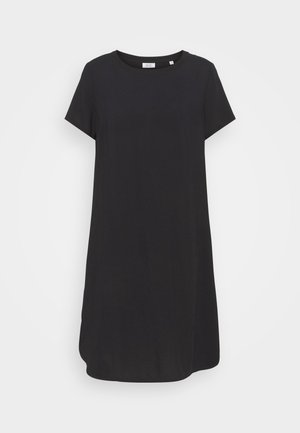 ½ SLEEVE DRESS - Žerzejové šaty - black