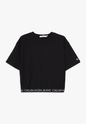 LOGO WAISTBAND CROPPED - Basic T-shirt - black