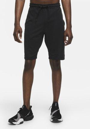 kurze Sporthose - black/black/team orange