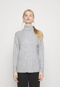 Even&Odd - CABLE LONG LINE - Jersey de punto - mottled light grey - 0