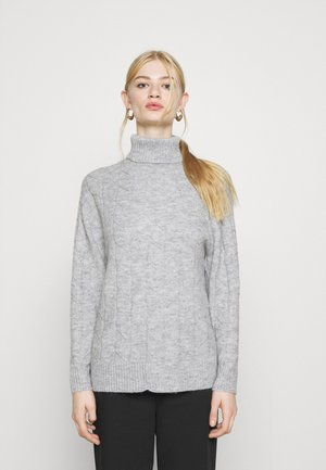 CABLE LONG LINE - Jersey de punto - mottled light grey