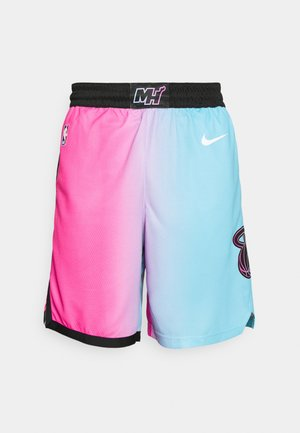 NBA MIAMI HEAT CITY EDITION SWINGMAN - Short de sport - laser fuchsia/blue gale/black