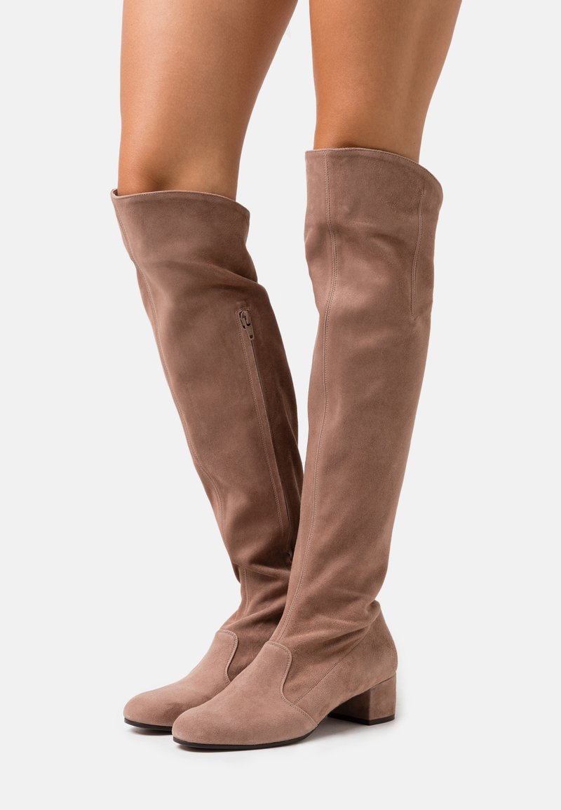 L'Autre Chose - BOOT ZIP - Stivali sopra il ginocchio - nude