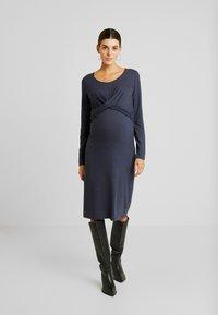 MAMALICIOUS - MLSELENA DRESS  - Vestido ligero - navy blazer/melange - 0