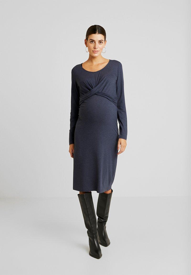 MAMALICIOUS - MLSELENA DRESS  - Vestido ligero - navy blazer/melange