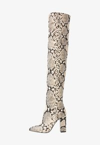 Call it Spring - SLOUCH - Boots med høye hæler - black/white - 1