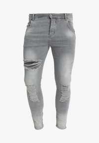 SIKSILK - DISTRESSED SUPER - Jeans Skinny Fit - washed grey