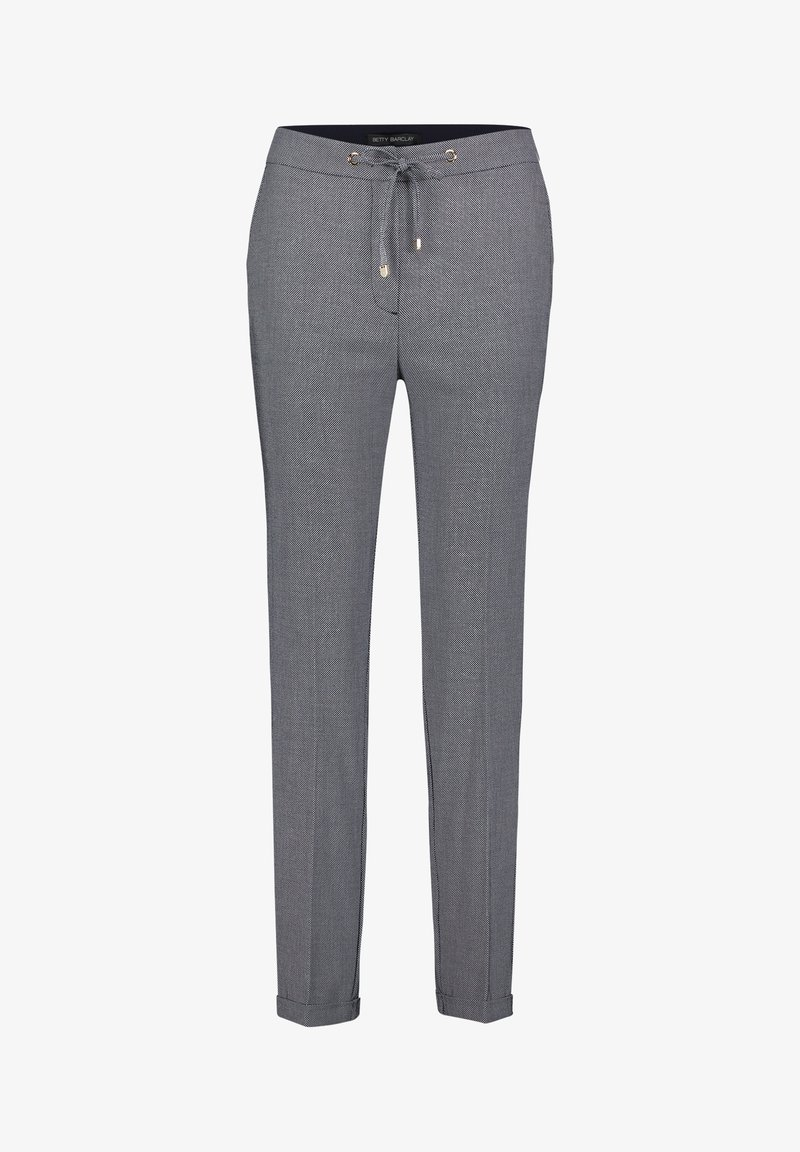 Betty Barclay - Trousers - dunkelblau/weiß