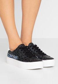 Calvin Klein - JANIKA - Zapatillas - black - 0