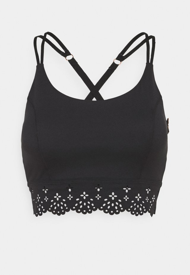 COCOON CROP - Sport-bh met light support - black