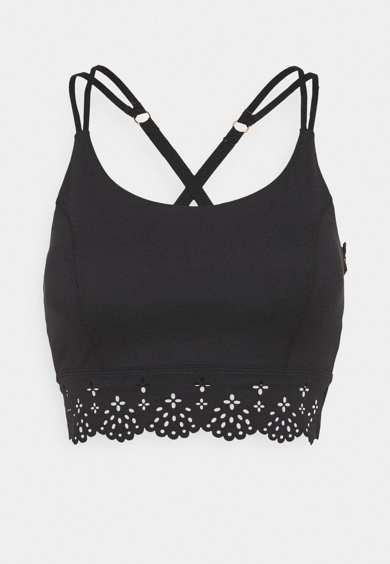 L'urv - COCOON CROP - Light support sports bra - black