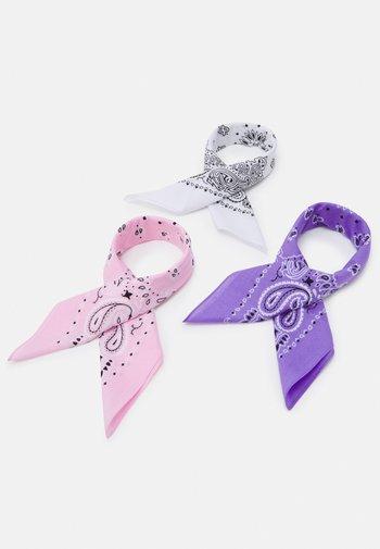 BANDANA 3 PACK UNISEX - Foulard - violet/white/rose