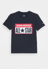 Converse - LICENSE PLATE TEE - T-shirt con stampa - obsidian - 0